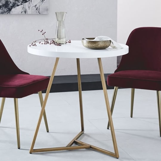 Lacquer Top Café Table at West Elm