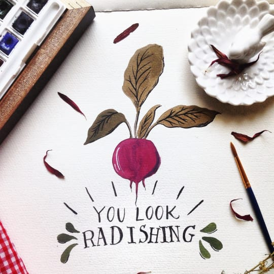 You Look Radishing Print from Seedling Paperie