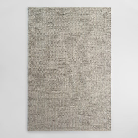 Gray Metallic Woven Jute Alden Area Rug