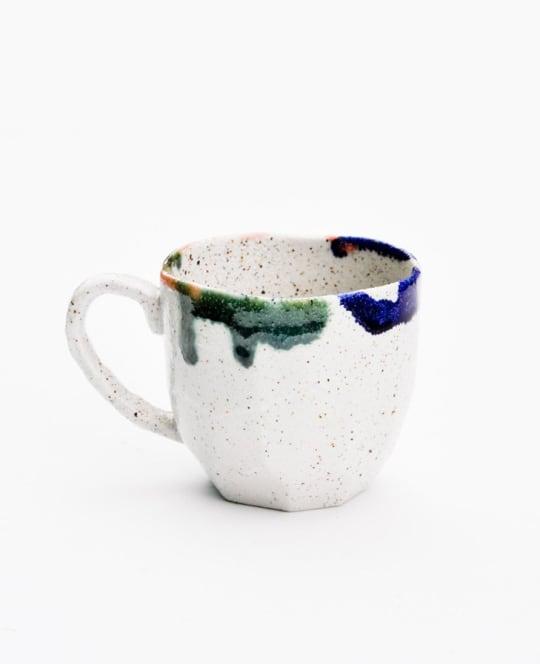 Japanese Faceted Color Boulder Mug