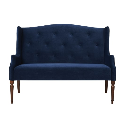 Izzy Tufted Settee in Navy Blue