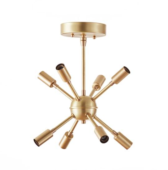 Mid-Century Modern Petite Sputnik Chandelier
