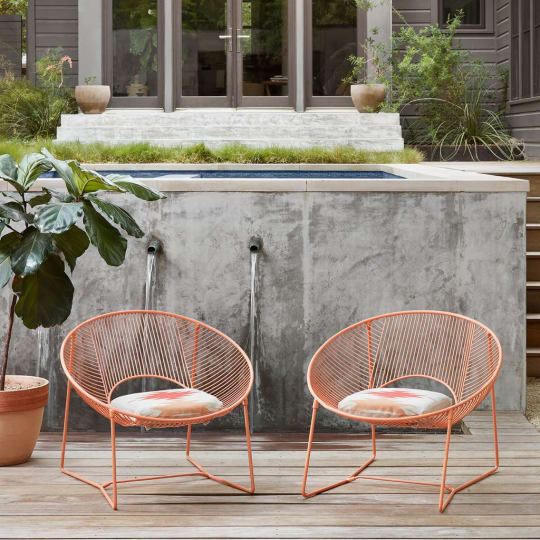 Leon Outdoor Chair, Set of 2 - APRICOT at The Citizenry