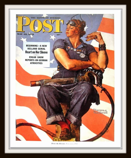 Rosie the Riveter Print from My Sunshine Vintage