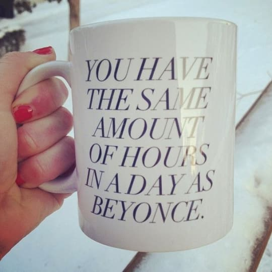 Beyonce Coffee Mug from Sweaty Wisdom