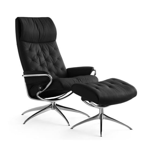 Metro High-Back Reclining Chair and Ottoman