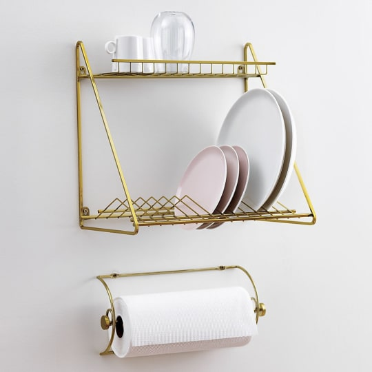 Gold Dish Rack from CB2