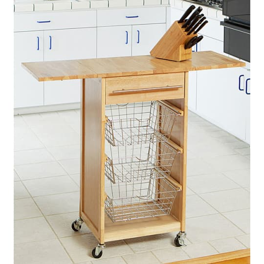 Expandable Wooden Kitchen Island from Overstock