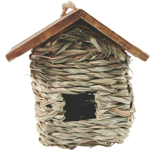 Hanging Grass Roosting Pocket With Roof