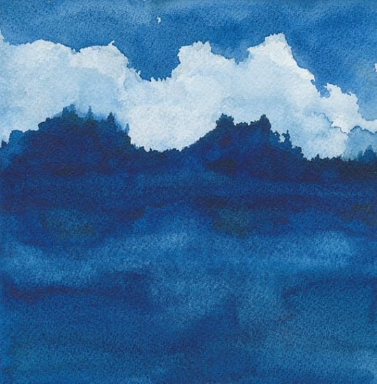 Clouds Over River by Renée Anne