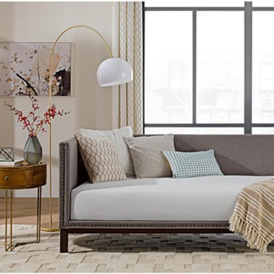 Avenye Greene Mid-century Grey Upholstered Modern Daybed