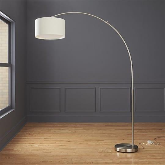 CB2 Big Dipper Arc Brushed-Nickel Floor Lamp