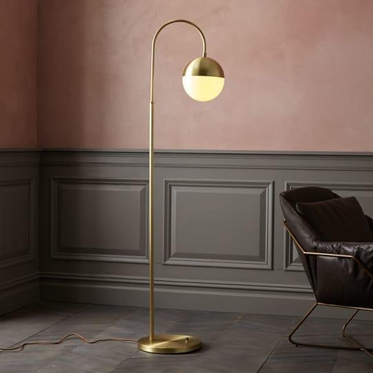 Cedar + Moss Floor Lamp at Rejuvenation