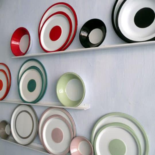 Enameled Iron Plates & Bowls by Stefania di Petrillo