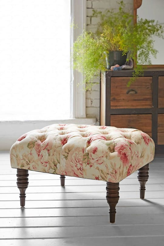 Urban Outfitters Halliday Floral Ottoman