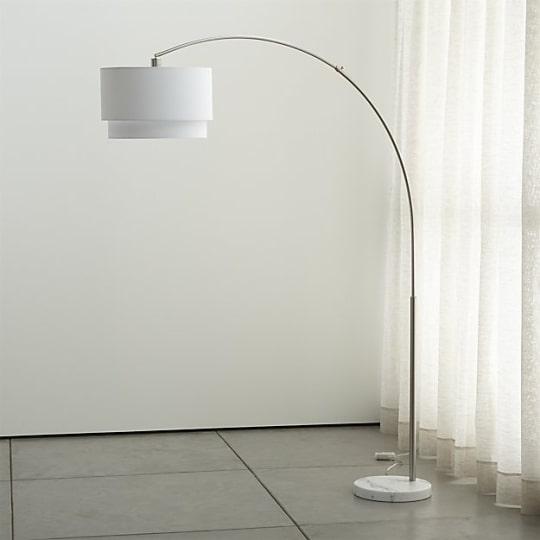 Crate & Barrel Meryl Arc Floor Lamp