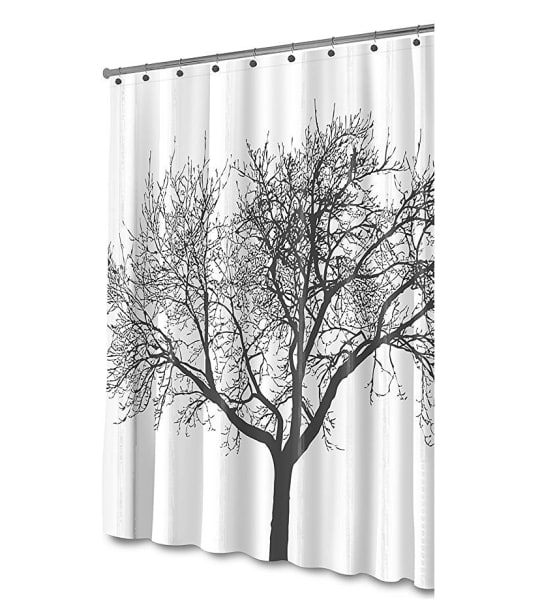 Shower Curtain with Tree Design