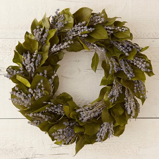 Lavender & Leaves Wreath