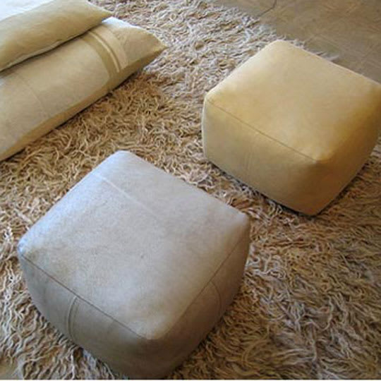 Leather Pouf by Dosa