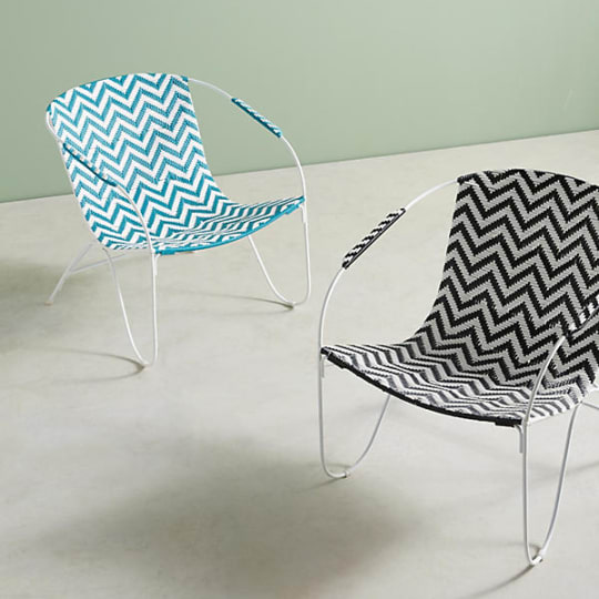 Woven Chevron Outdoor Chair at Anthropologie