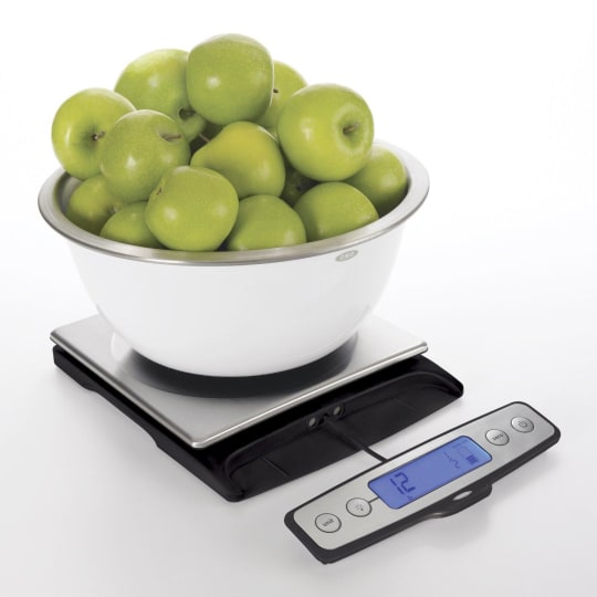 Good Grips Stainless Steel Food Scale with Pull Out Display, 22-Pound from OXO
