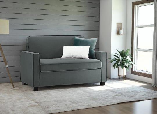 Clay Alder Home Velvet Twin Sleeper Sofa