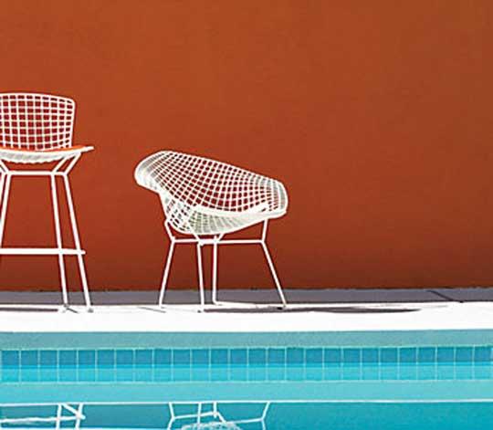 2 Bertoia Knoll Diamond Chairs