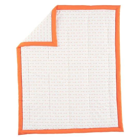 Land of Nod, Orange Iconic Baby Quilt, Arrows