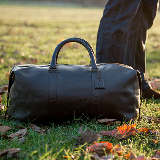 Leather Duffel Bag by Fox Archer at Etsy
