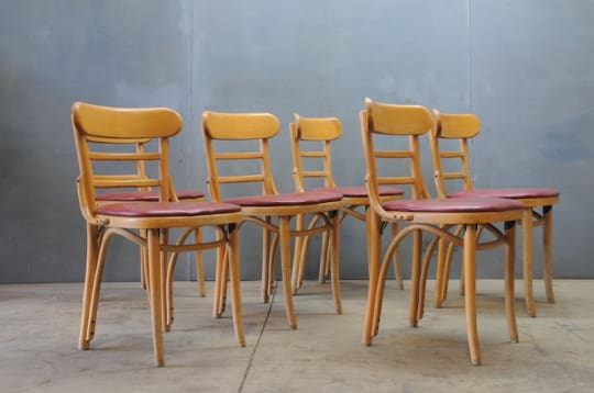 6 Thonet Bentwood Trattoria Chairs