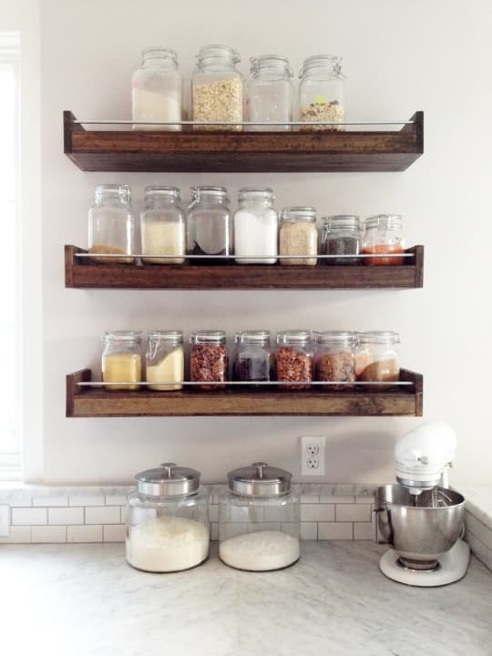 Industrial Floating Shelf or Spice Rack from This Old Wood Shop