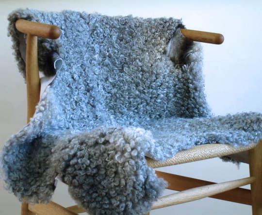 Grey Swedish Gotland Sheepskin