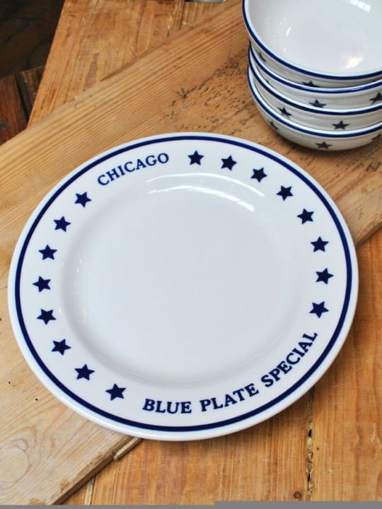 Chicago Blue Plate Special Dinner Plate from P.O.S.H. Chicago