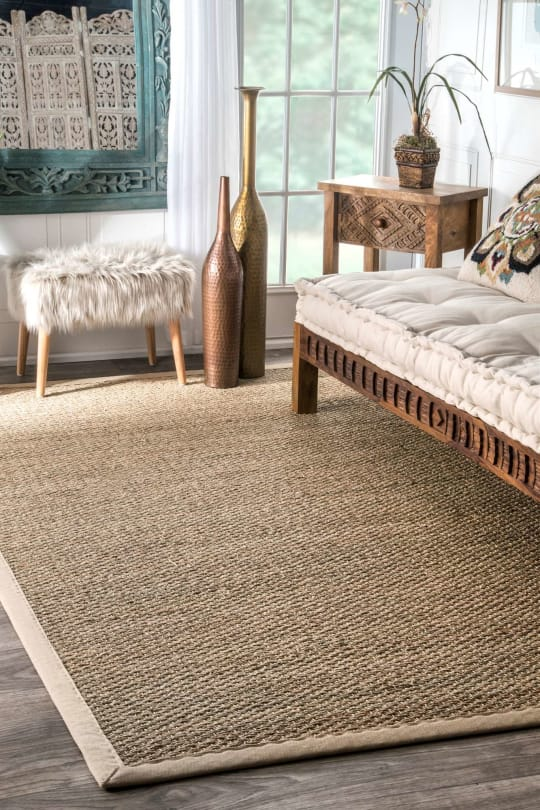 Maui Seagrass with Border Rug
