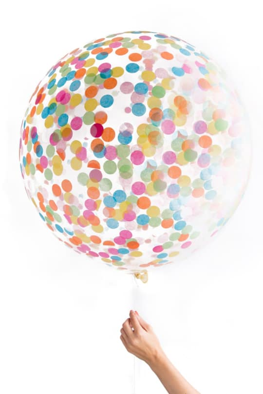 Jumbo Clear Confetti Balloon from Knot and Bow