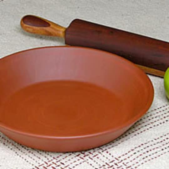 Red Clay Deep-Dish Pie Plate