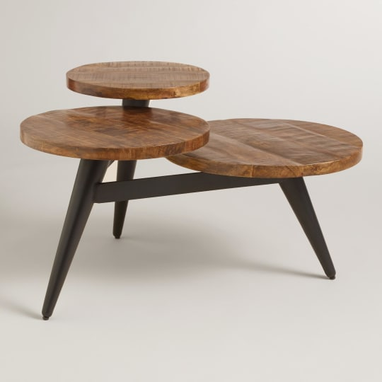 Wood and Metal Multi-Level Coffee Table by World Market
