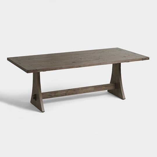 Rustic Wood Brinley Fixed Dining Table at World Market
