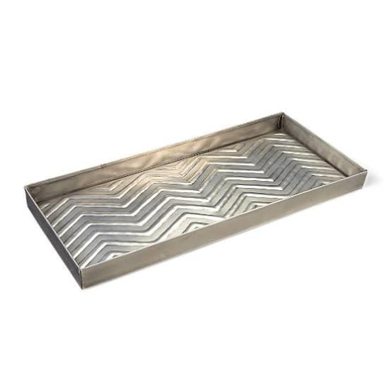 Embossed Metal Boot Tray