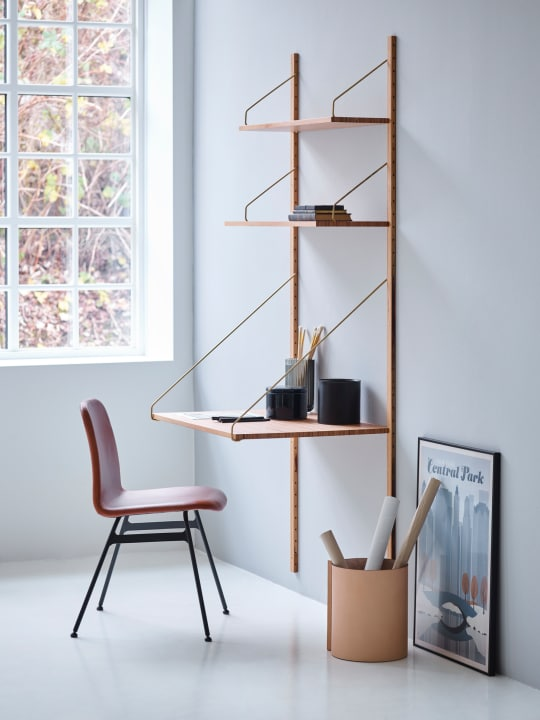 Royal System Shelving United A with Desk Shelf at Design Within Reach