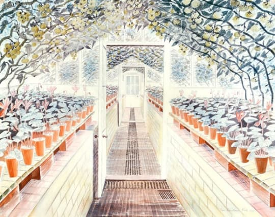The Greenhouse Tomatoes & Cyclamens by Eric Ravilious