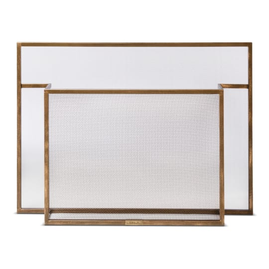 Smith & Hawken Carson Fireplace Screen Burnished Brass