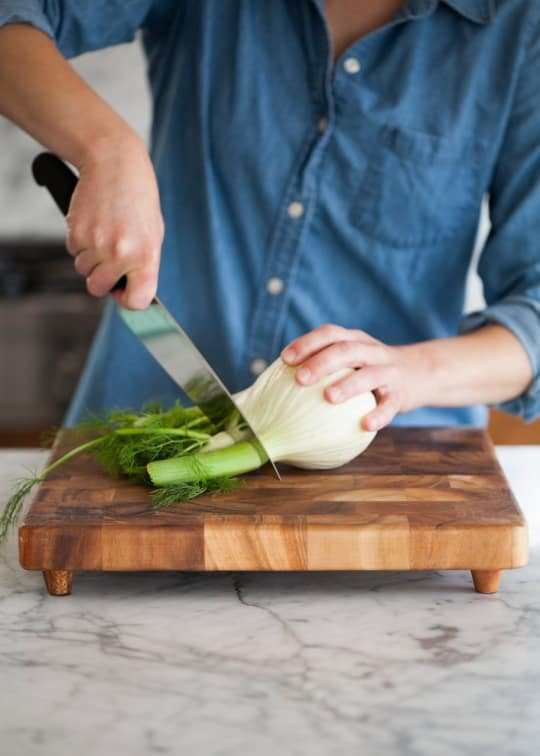 End Grain Chopping Board from Crate & Barrel