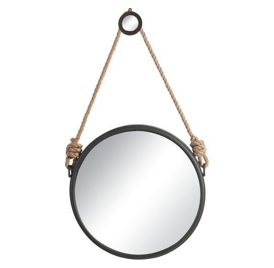 Round Decorative Mirror with Rope Hanger at Target