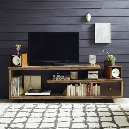 West Elm Staggered Wood Console at West Elm