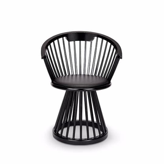 Tom Dixon Fan Dining Chair Black