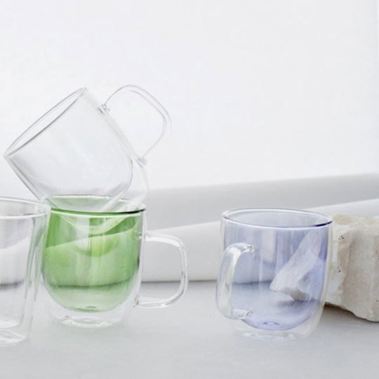 Double-Walled Glass Mugs from Canvas