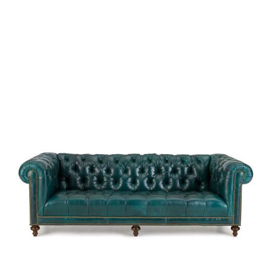 "Massoud Davidson 94"" Tufted Seat Chesterfield Sofa at Neiman Marcus"