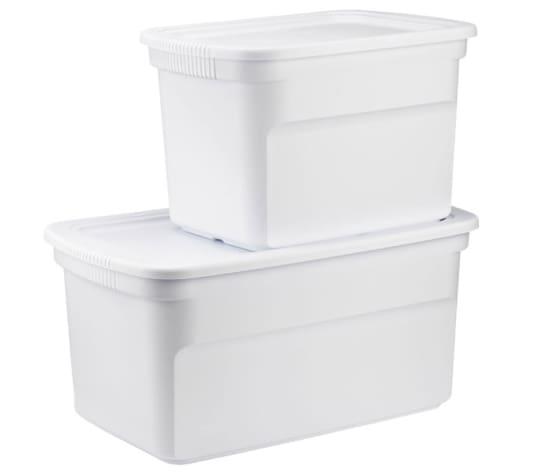 White Tote Boxes