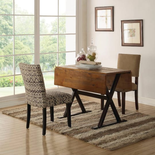 "Drop Leaf Rustic 40"" Dining Table - Brown"